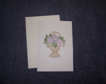 Greeting Card Embroidered