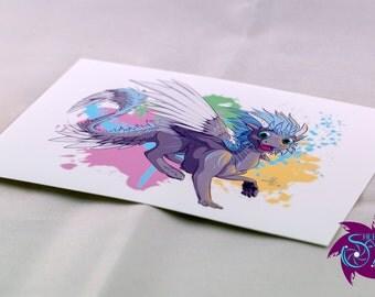 "Original Art Print - A6 - ""Rhea"""