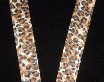 Animal Print Brown Leopard Lanyard