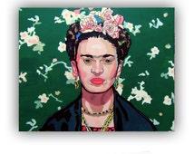Frida Kahlo, acrylic paint by Jotawi