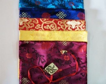 Tibetan Buddhism Silk Brocade Dharma Book Cover / Laptop Cover / text cover / Free Shipping