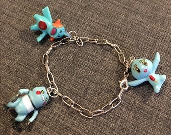 Pokemon Charm Bracelet in Blue