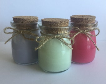 Mood-Maker Essential Oil Candle Pot Trio Set (GMO free soy wax base)