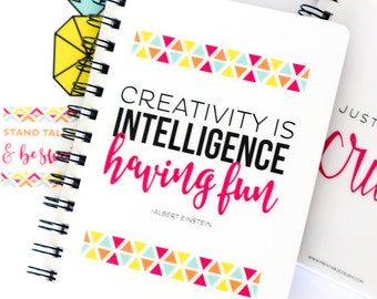 Inspiring Quote Spiral Notebook