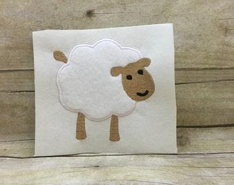 Sheep Applique, Sheep Embroidery Design Applique