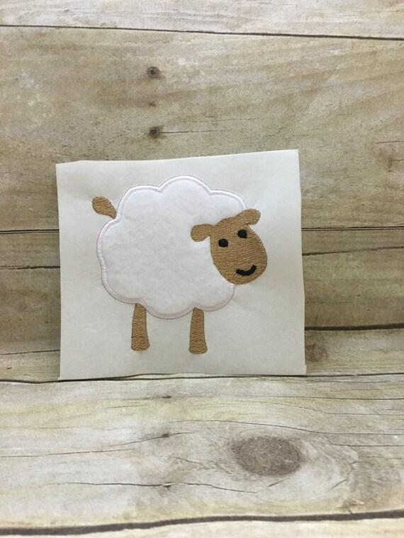 Apliques de oveja oveja bordado apliques de dise o - Apliques de diseno ...