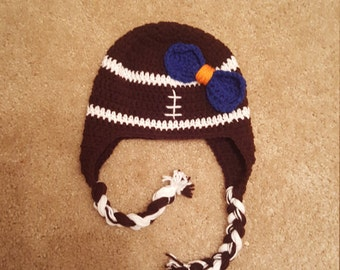 Football hat with bow