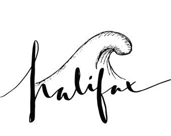 Halifax Wave Print