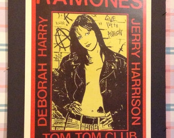 Ramones Concert Poster 12x18 Reproduction // Punk // New York //  Rock