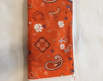 Clemson Tigers Zipper Pouch - Handmade