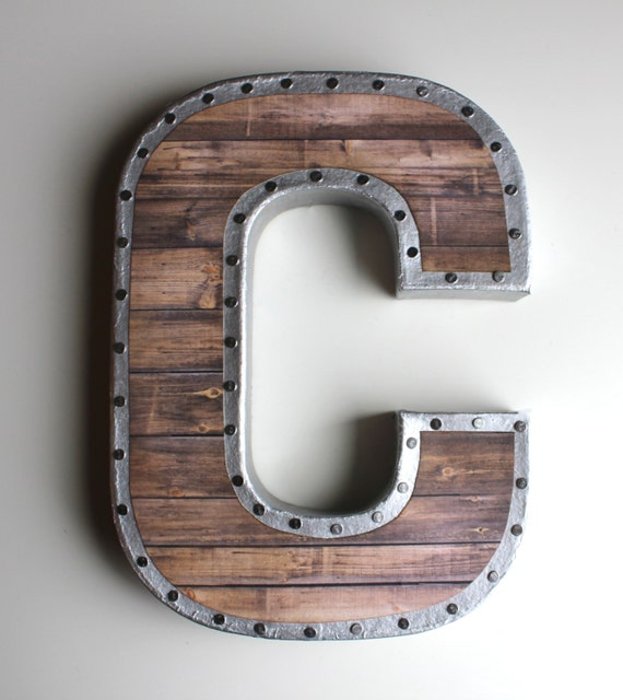 metal letter wall art faux reclaimed wood letters gallery wall reclaimed by 23622 | il 570xN.1021207620 i1fn