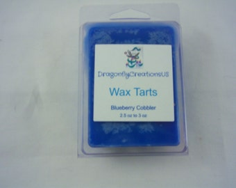 2.5 Oz Handmade Blueberry Cobbler Double Scented Wax Tarts for Scentsy and Other Warmers - Others Scents Available