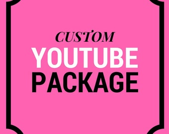 CUSTOM Youtube Channel Package | Youtube Banner, Watermark and End Slate