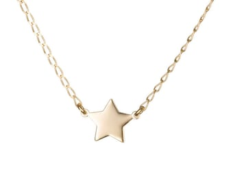 Gold star necklace, Delicate adjustable necklace, Gold necklace, Simple gold necklace
