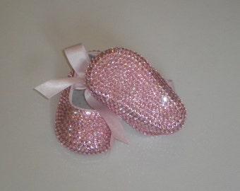 Babygirl Swarovski Ballerina Baby Booties Crib Shoes