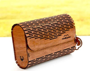 Wooden Bag, Clutch & Crossbody