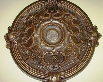 """Antiqued Ceiling or Wall Medallion, 18"""" Ceiling Medallion, Ornate Medallion, ceiling medallion"""