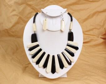 Bone Necklace & Earring Set