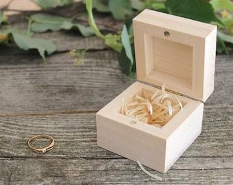 Wood ring box,jewelry box,wood jewelry box,wedding rings wood box,unfinished wooden box,ring box,engagement rings box,small wood box