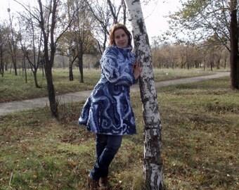 "Spring coat ""Gzhel"""