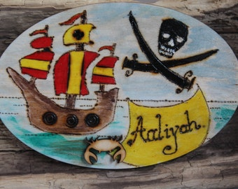 Shiver me Timbers Bedroom Door Plaque