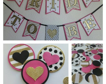 Kate Spade Inspired Bridal Package / Kate Spade Inspired Bachelorette Decor / Kate Spade Inspired Bridal Shower / Kate Spade Bride to Be