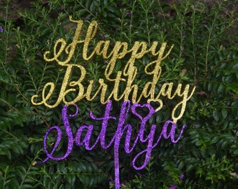 Birthday topper, Birthday Cake Decor, Anniversary Happy Bithday Cake Topper