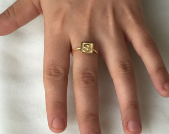 Initial Ring- Personalized Jewelry- Custom Ring