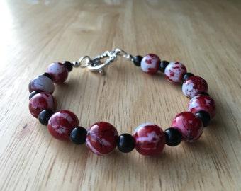 Red, White, & Black Bracelet