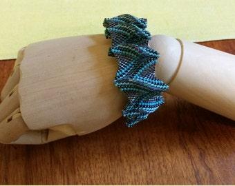 Beaded royal ruffle bracelet