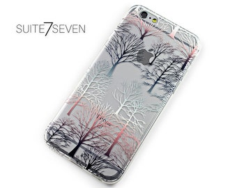 iPhone 7 Case, iPhone 7 Plus Case, iPhone 6 Case, iPhone 6s, iPhone 6 Plus Case, Clear Case, Rubber, Samsung Galaxy Case, Artistic Forest