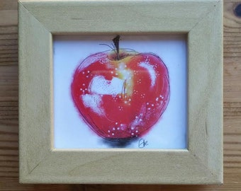 Little framed apple illustration
