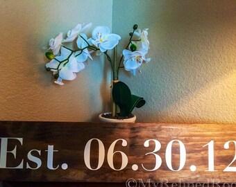 Est. Date Wood Sign, Wedding Date, Anniversary, Wedding Decor, Marriage Decor