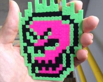 Original Pixel Art Skull: Hama Beads