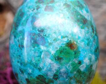 Chrysocolla Crystal Egg -  1177.55