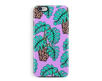 iPhone 7 tough Case, Retro iPhone 7 Case, iPhone 7 Case, Palm iPhone Case, iPhone 7 Cover, Cheese Plant, Phone Cases, 80s iPhone 7 Case