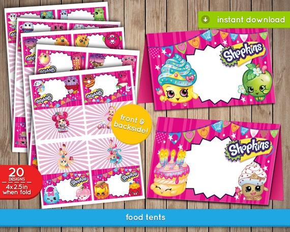 It is a photo of Playful Free Printable Shopkins Food Labels