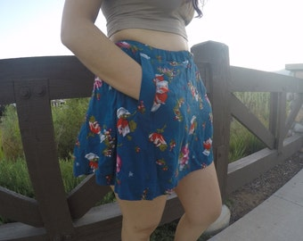 HIGH Waisted Floral Stamped Skirt