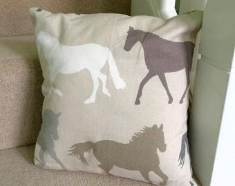 Wild horses decorative cushion