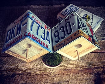 Rustic & Re-purposed license plate Birdhouse
