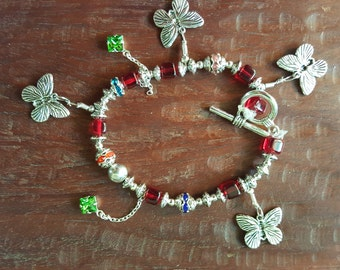 Charm bracelet butterfly