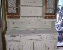 Distressed Ethan Allen China Cabinet
