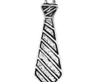 Tie Charm. Antique Silver TIbetan x 5