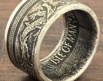 2016 Isle Of Man .999 Silver Coin Ring