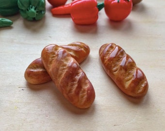 Bread. Polymer Bread. Handmade! Polymer clay.Miniature Bread for playing with children.