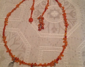 Azza Fahmy Wrap Necklace in Carnelian