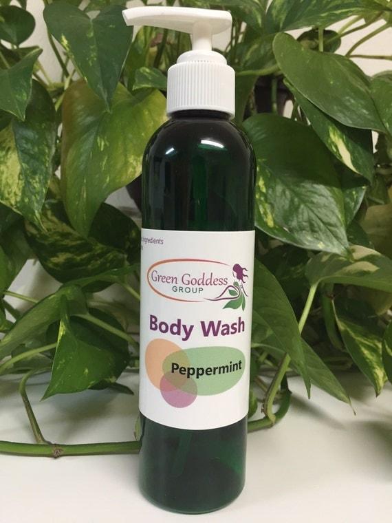 Organic peppermint body wash
