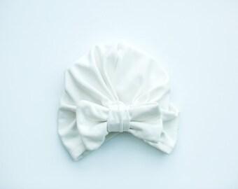Bow Turban White (Ava)