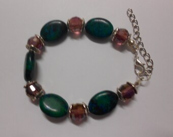 Azurite Chrysocolla bracelet