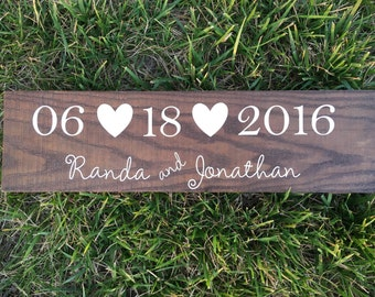 Wedding/ Anniversary Date Wood Sign
